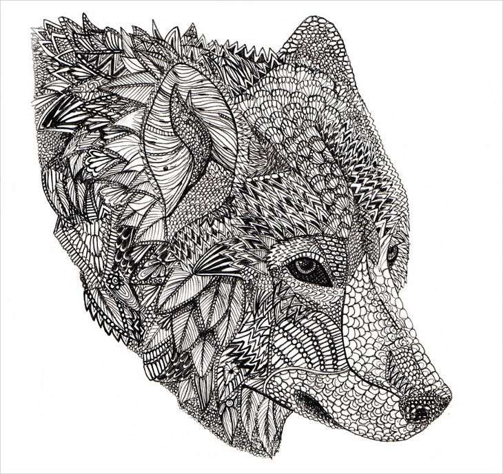 Conceptual Wolf Drawing