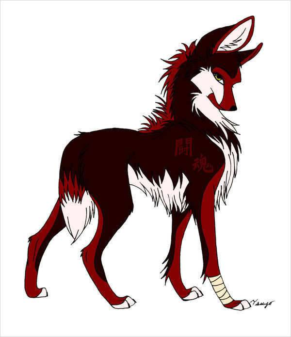 cool anime wolf drawing