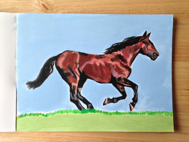 Beautiful Brown Horse Drawing