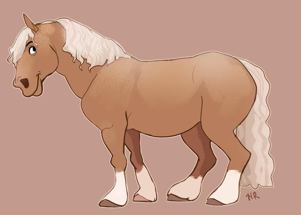 Fat Cartoon Horse