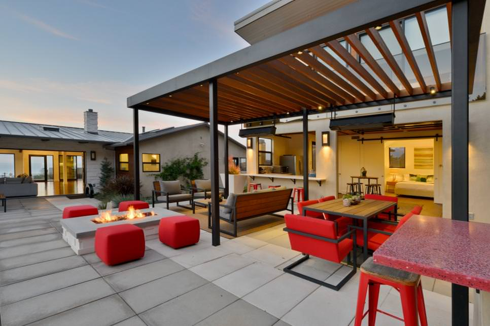 Modern patio design - 23+ Modern Small Terrace House Design Ideas Images