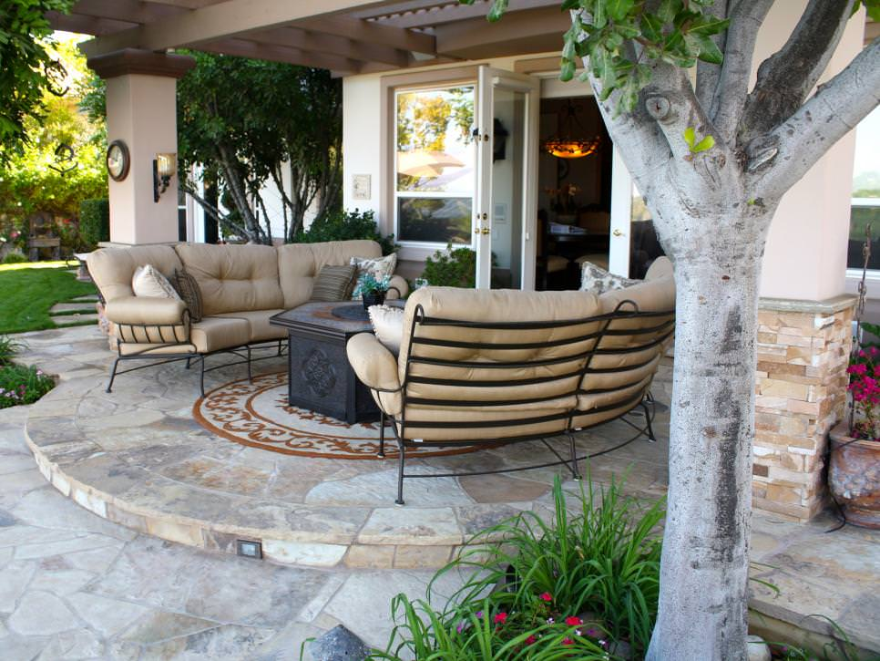 Patio Designs Decorating Ideas Design Trends Premium PSD - Stone patio design