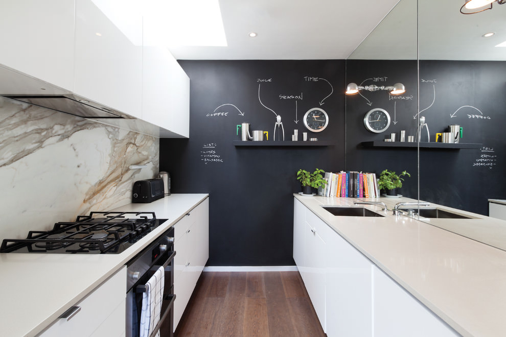 Awesome Kitchen With Chalkboard Wall Design