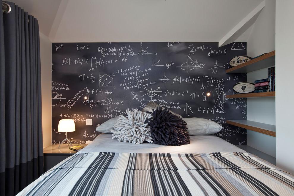 Teen bedroom with chalkboard wall design