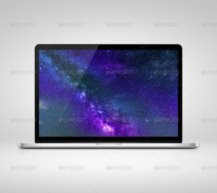 Front Retina Laptop Mockup