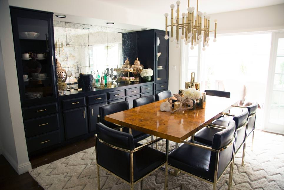 Elegant Black and White Dining Room design