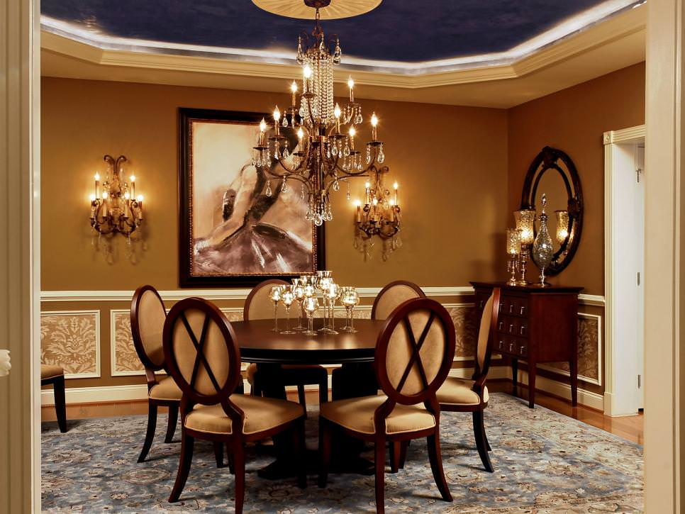 Elegant Traditional Dining Room is Feminine