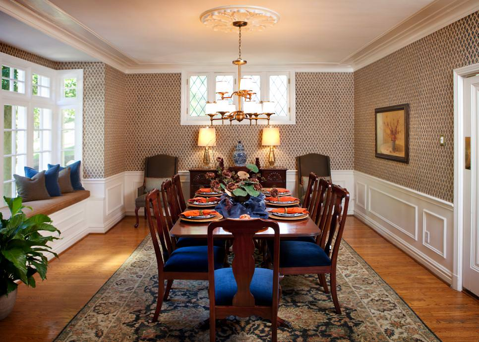 Royal elegant Dining Room Is Spacious