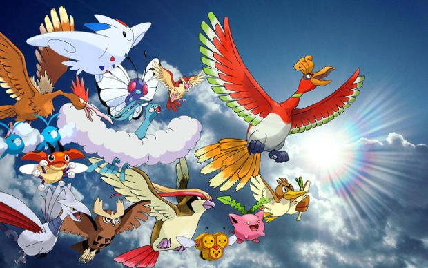 flying pokemons