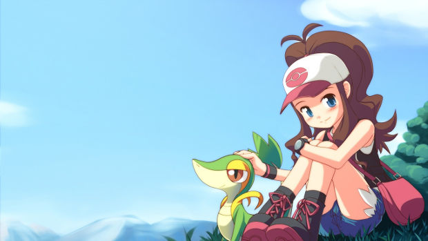 girl pokemon master with pokemon
