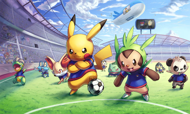 anime pokemon football league background