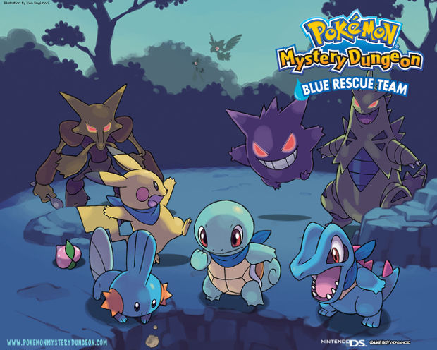 Pokemon Squirtle Pikachu Gengar Background