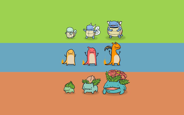 pokemons and their evolution background