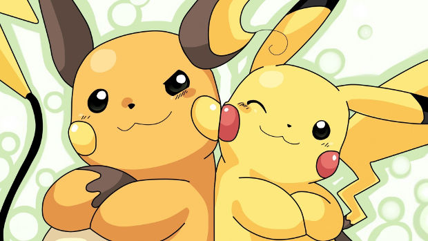 Pikachu and Raichu Pokemons