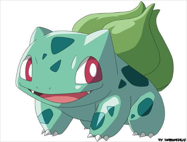Cute Bulbasaur Grass Pokemon