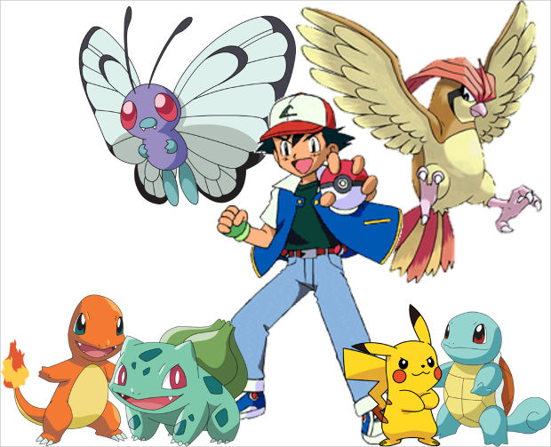 ash with his pokemons