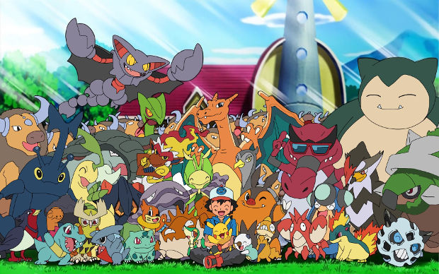 ash with all his pokemon background