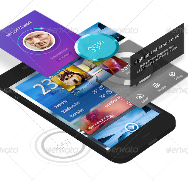Cool Smart Phone App Presentation Mockup