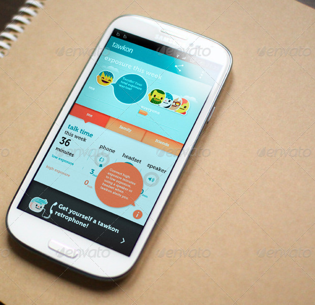 showcase of lastest android smart phone app mockup