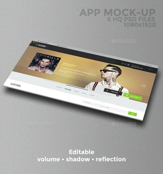 6 Hq App Mock Psd Download