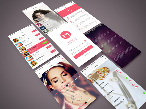 Awesome Psd App Mockup Collection