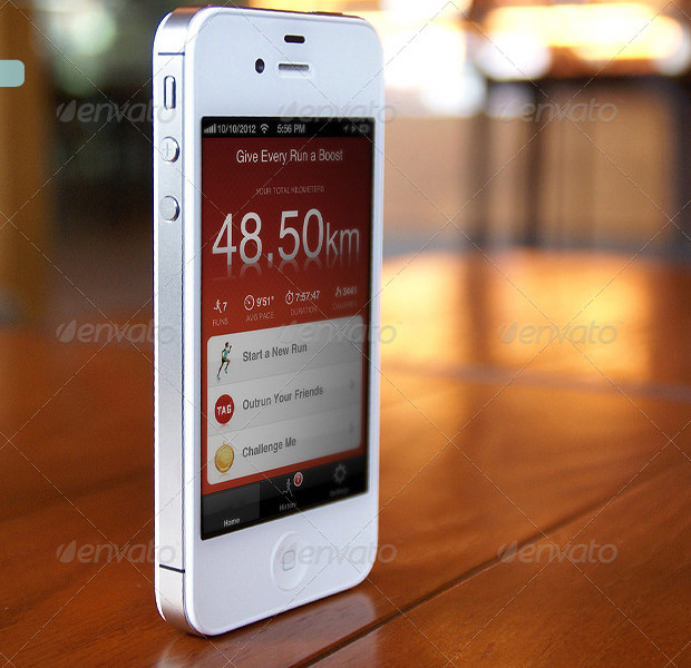 cool apple device photorealistic app mockup