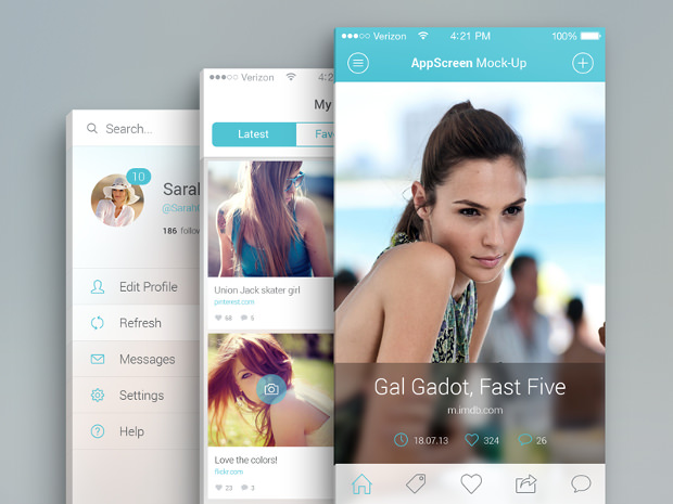 App Screen Psd Mockup Download