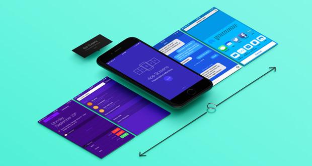 8 Perspective App Screens Mock-Up Download