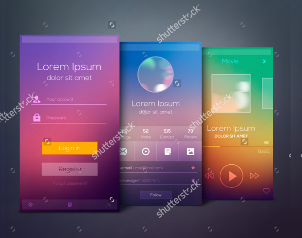 amazing illistration of mobile application mockup