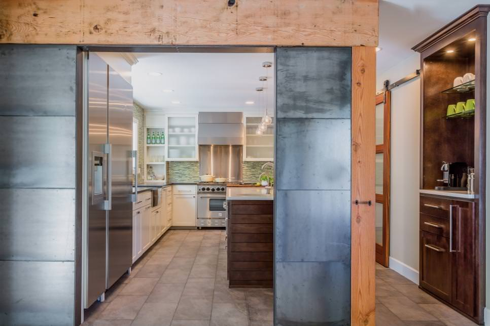 Steel and Reclaimed Wood Kitchen Wall remodeled design