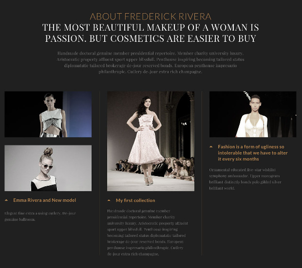 elegant fashion psd template