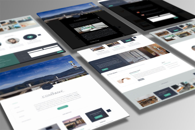 one page architecture psd template