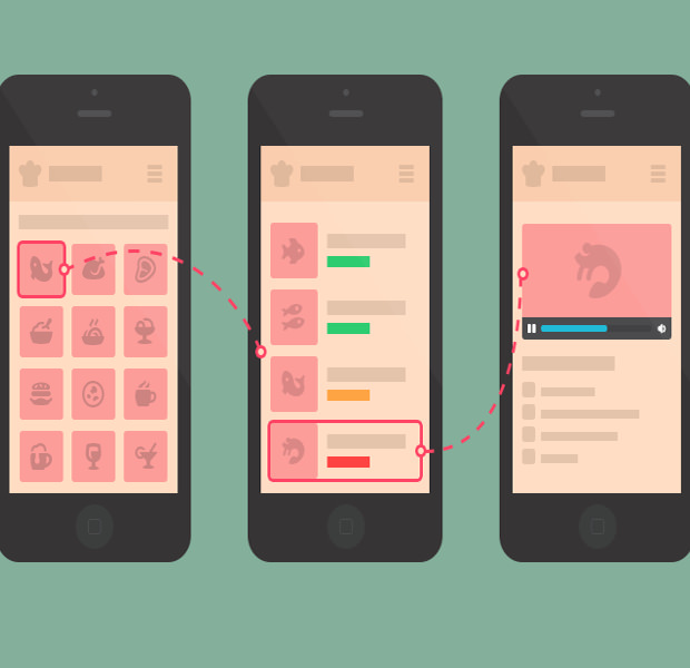 Mobile Cooking App Mockup