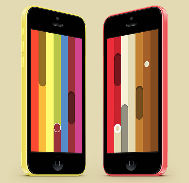 colourful mobile app mockup design