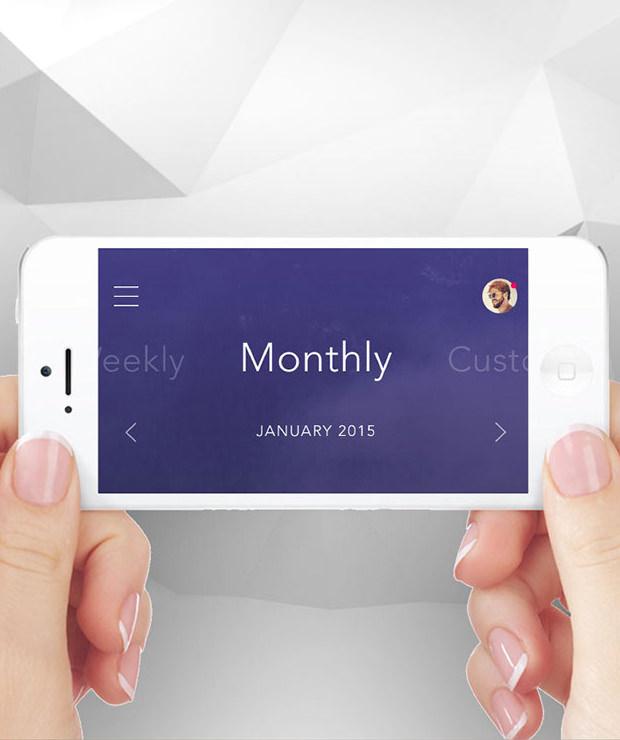 landscape Mode Mobile App Mockup