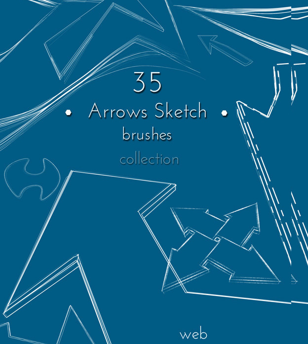 35 sketched arrow brushes1
