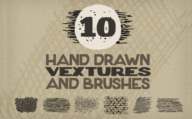 10 Different Vextures in both Vector and Photoshop Brush Formats.