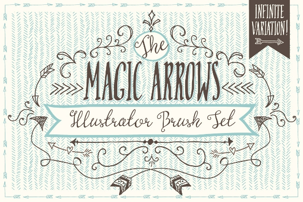 beautiful magic arrow brushes set
