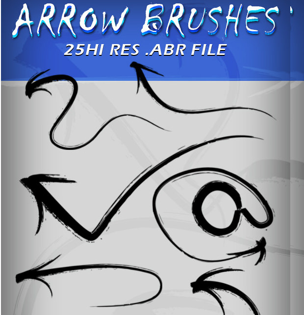 black color arrow brushes