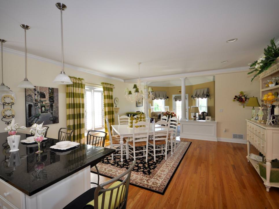 Open French country Dining Room design