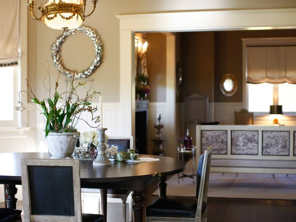 traditional dining room with french touches