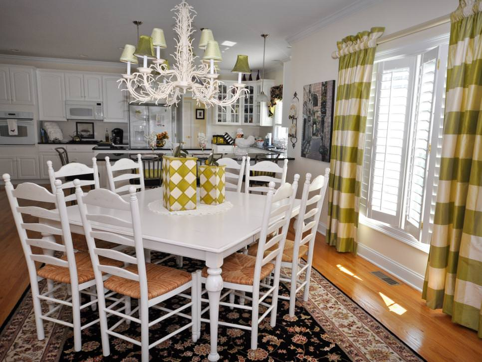 white french country dining room design - Country Dining Room Design