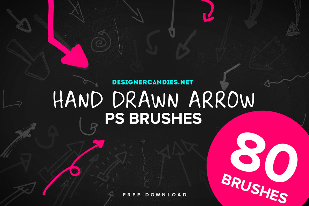 80 Natural Hand Drawn Arrow Brushes