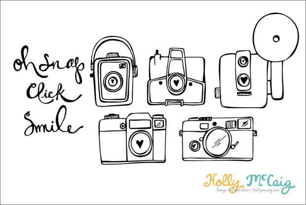 Hand Drawn Camera Photoshop Brushes