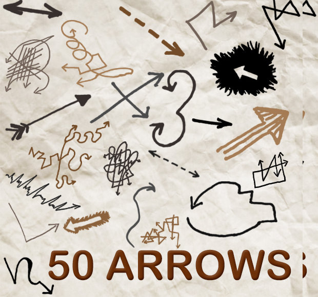 50 instant download arrow brushes