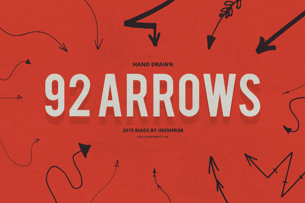 92 vector arrow brushes
