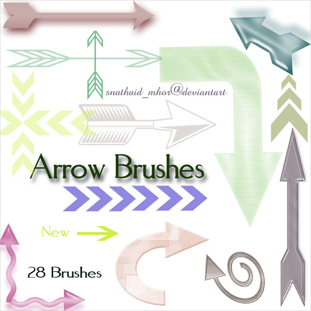 28 new arrow brushes