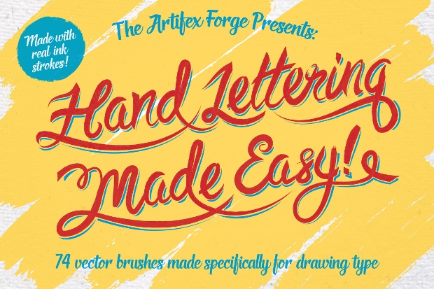 74 Easy Hand Lettering Brushes
