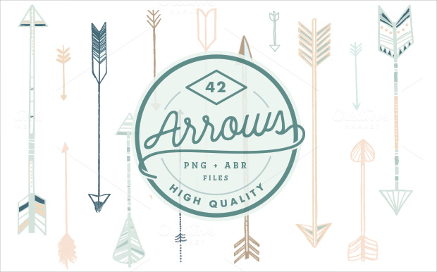 42 high quality arrow brushes