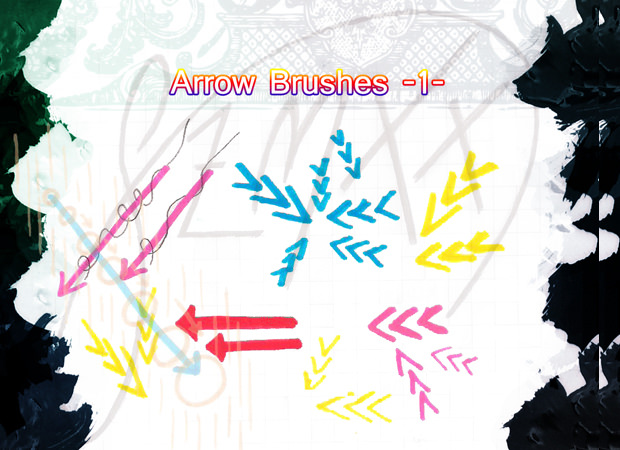 artistic arrow brushes